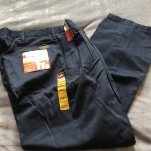 Lee Navy blue men's pleated trousers